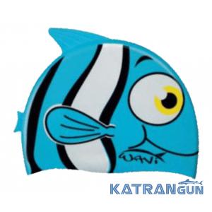 Детская шапочка для бассейна Salvimar Wavi Fish Cap голубая