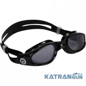 Незапотівающі окуляри для плавання Aqua Sphere Kaiman, dark lens / black